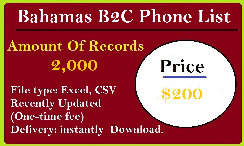 Bahamas B2C Phone List