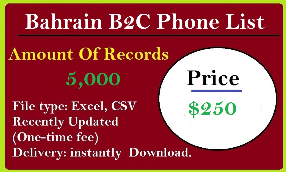 Bahrain B2C Phone List