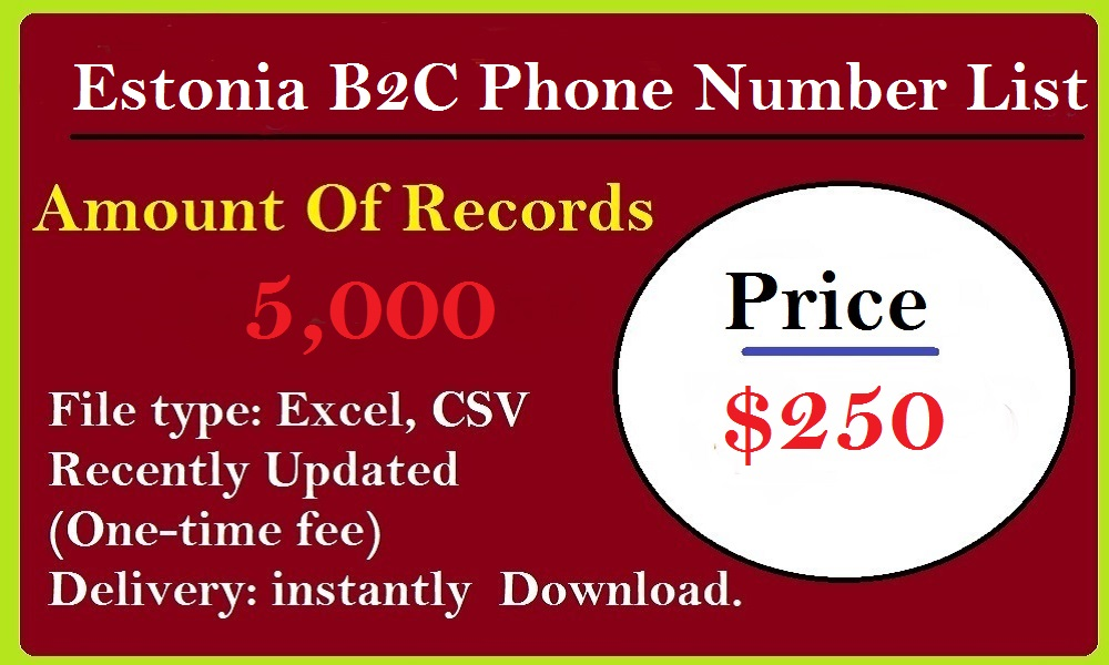 Estonia B2C Phone Number List