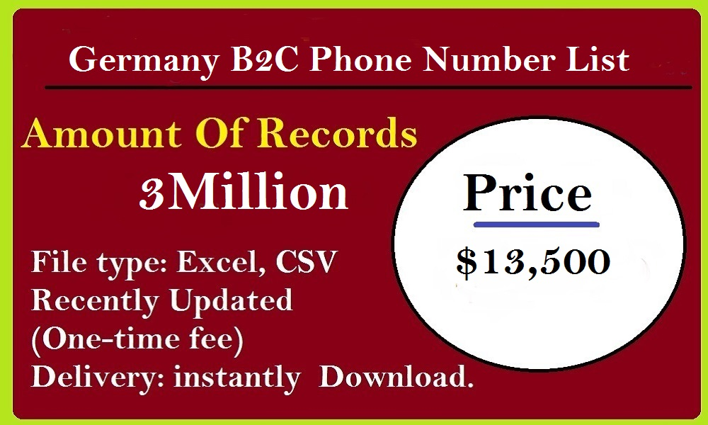 Germany B2C Phone Number List