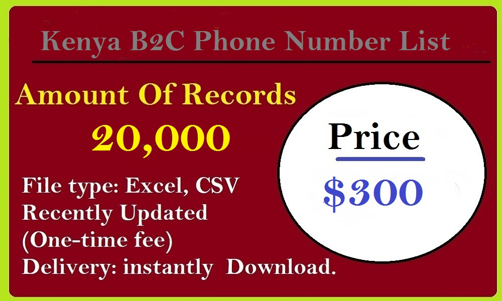 Kenya B2C Phone Number List