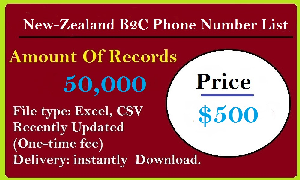 New-Zealand B2C Phone Number List