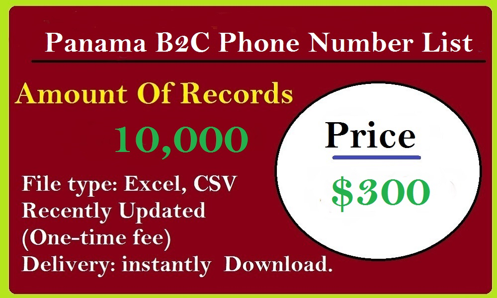 Panama B2C Phone Number List