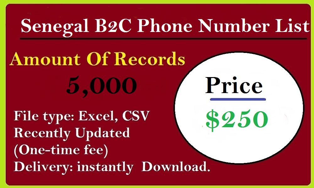 Senegal B2C Phone Number List
