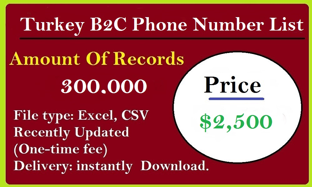 Turkey B2C Phone Number List