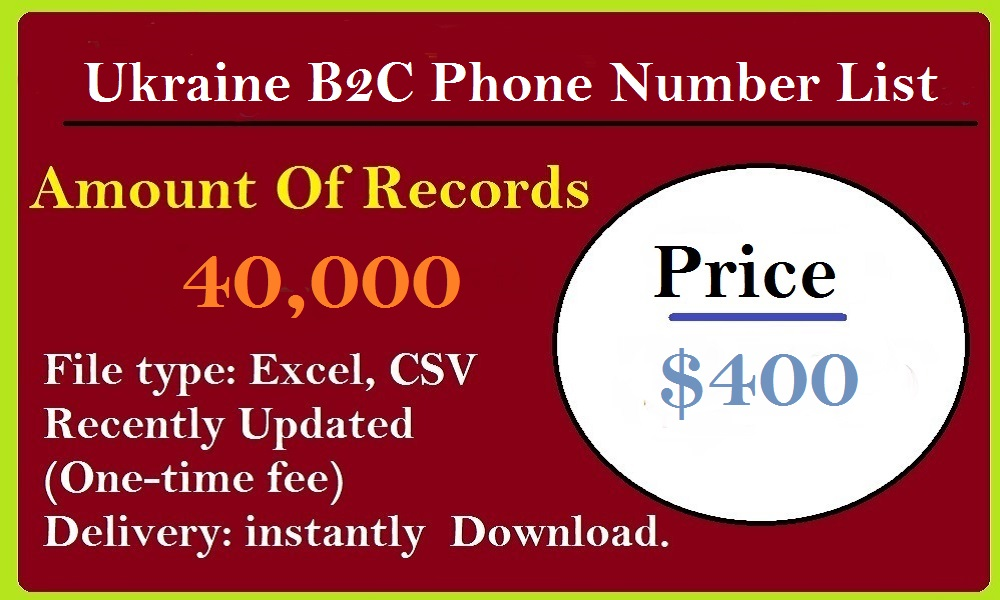 Ukraine B2C Phone Number List