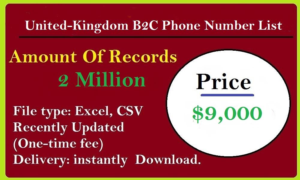 United-Kingdom B2C Phone Number List