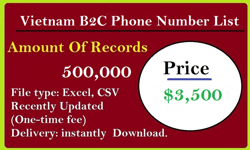 Vietnam B2C Phone Number List