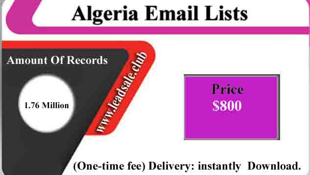 Algeria Email Lists