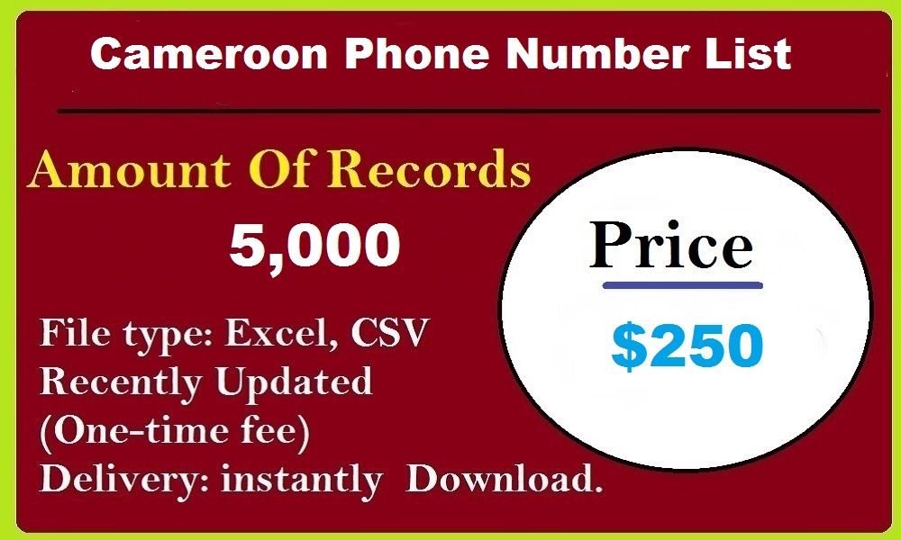 Cameroon Phone Number List