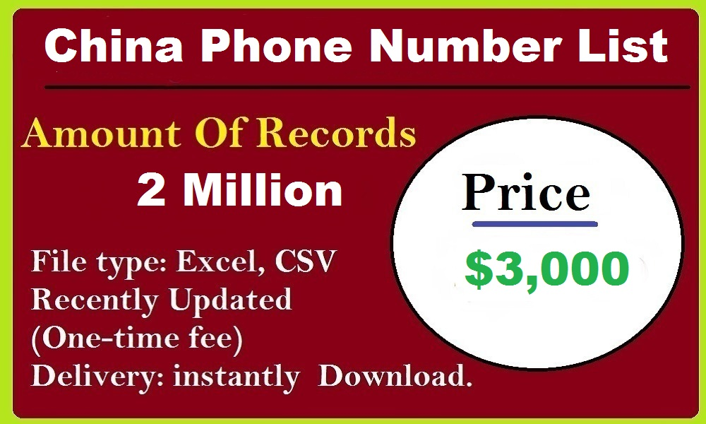 China Phone Number List