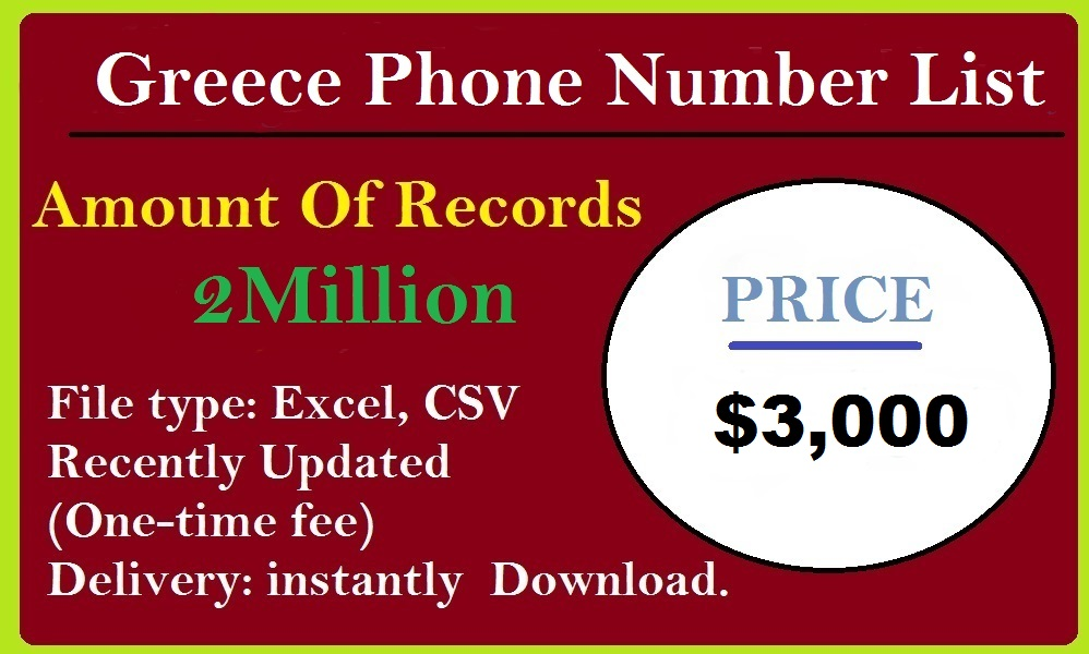 Greece Phone Number List