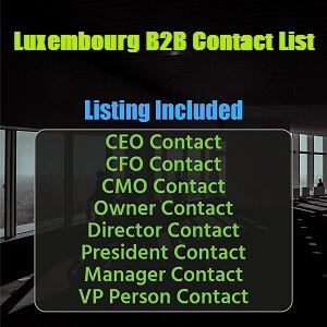 Luxembourg B2B Contact List