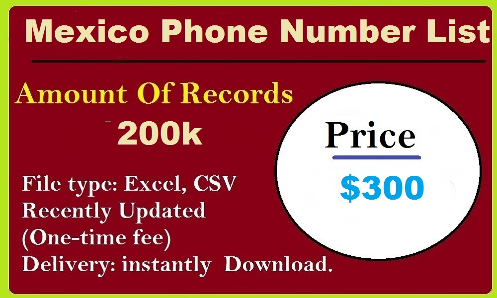 Mexico Phone Number List